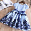 cotton infants striped embroidery baby girls  dresses