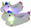 lovely Cartoon Plush Chausson Licorne White Slippers
