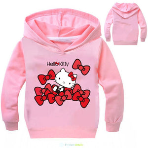 Classic Cartoon Hello Kitty Printing Hoodies Long Sleeve
