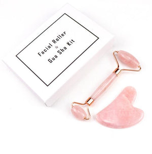 Facial Massage Relaxation Jade Roller Stone Natural Rose Quartz Beauty Skin Tool