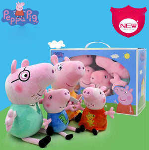 Peppa Pig  small  Size  4pcs/set Pig Family Plush Stuffed Cartoon Animals
