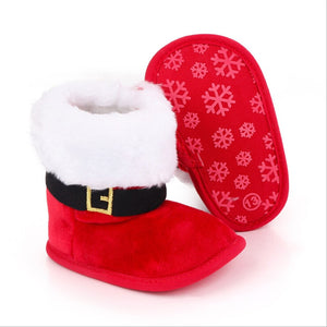Baby  Lovely Christmas Boots Winter Warm Slippers Anti-Slip Infant
