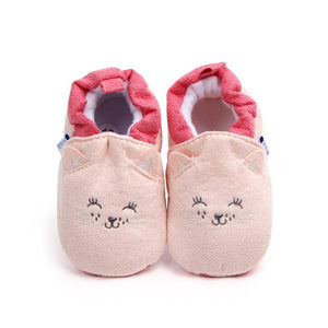 Cartoon Fox Baby Girls Winter Warm First Walkers