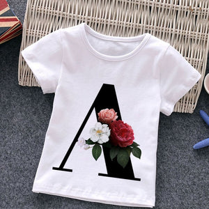 Unisex T-shirt Fashion Alphabet Girls Tshirts