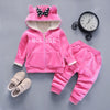Toddler Baby Winter Woolen Vest Jackets Coat Pants Thick Warm Tracksuts Kids Clothes Sets