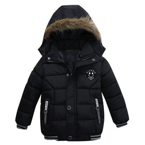 Winter Jacket Coat Boy Jacket Warm Hooded Kids Clothes