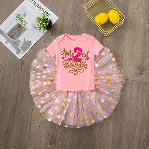 Baby Girls 2nd Birthday Outfit Cake Smash Outfit