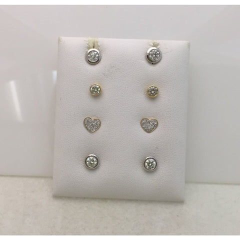 0.50 Half Carat Bezel Set Diamond Stud Solitaire Screwback Earrings - 14K Yellow Rose White Gold Wardrobe Staple - Earrings