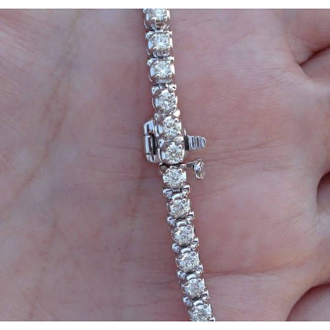 2.5 Carat Diamond Tennis Bracelet - 14K White Gold Ladies Woman Classic Natural Si2 J