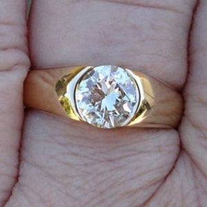 Gia Certified 1 Carat Internally Flawless Diamond Solitaire Ring - 14K Yellow Gold By Luxinelle® Jewelry - Ring