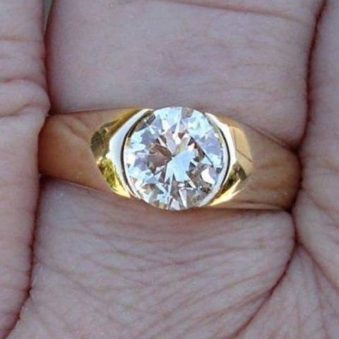 Image of Gia Certified 1 Carat Internally Flawless Diamond Solitaire Ring - 14K Yellow Gold By Luxinelle® Jewelry - Ring