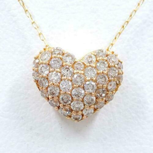18k Yellow Gold Half Carat Heart Pendant