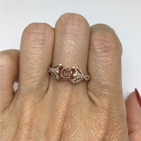 Luxinelle 1.70 Carat Raw Pink Diamond In 14K Rose Gold Ring By Luxinelle® Jewelry - Ring