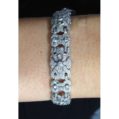 Image of Luxinelle 18K Pave Diamond Statement Tennis Bracelet - 1.97 Carat - Bracelet