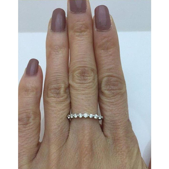 Jewels By Lux 14K Rose Gold Wedding Ring Band Size 8