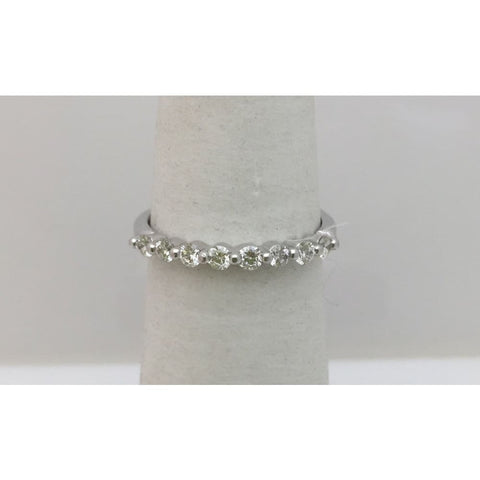 Image of Luxinelle 8 Diamond Shared Prong Wedding Band 0.40 Tcw- 14K By Luxinelle® Jewelry - Ring