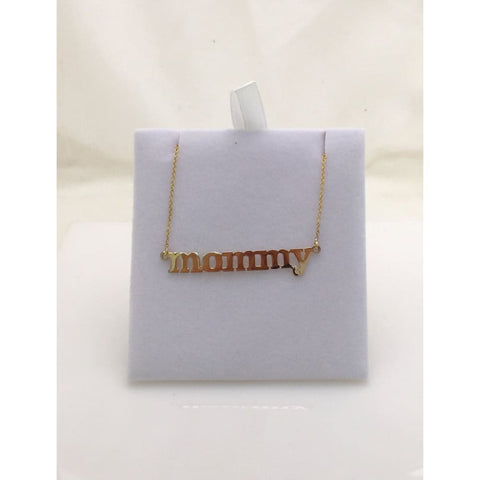 Image of Luxinelle Mommy Necklace - 14K White Yellow Or Rose Gold - Necklace