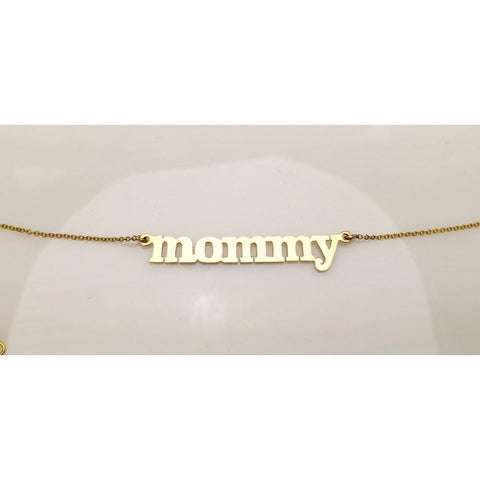 Luxinelle Mommy Necklace - 14K White Yellow Or Rose Gold - Necklace