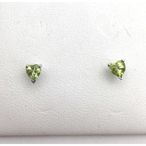 Luxinelle Peridot Stud Earrings - 4Mm Heart Shaped Green 0.50 Carat 14K - Earrings