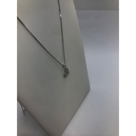 Pave Diamond Heart On A Chain 14K White Gold Chain Heart Charm 14K Rose White And Yellow Gold Options