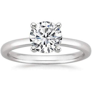 Platinum 1/2 Carat Gia Certified Diamond Engagement Ring 0.44 Ct Vs2 I 4 Prong