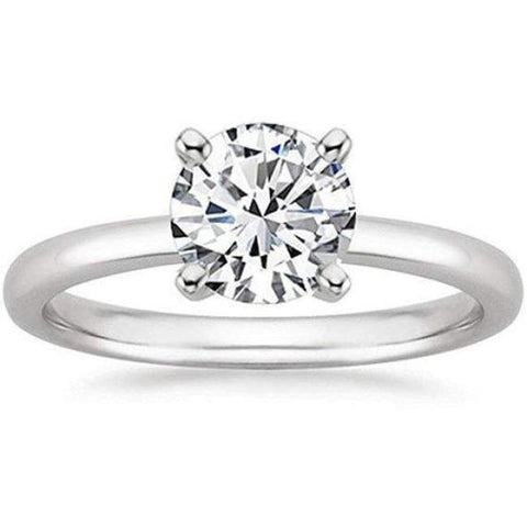 Image of Platinum 1/2 Carat Gia Certified Diamond Engagement Ring 0.44 Ct Vs2 I 4 Prong