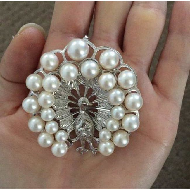 Jewelry & Watches Vintage 14k Rose Yellow White Gold Pearl Peacock Brooch Pin Engraved Estate
