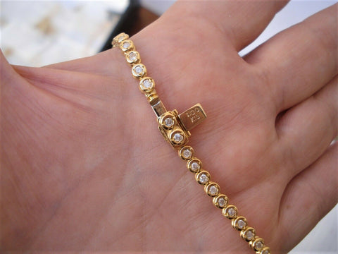 1 Carat Diamond Bracelet 18K Yellow Gold