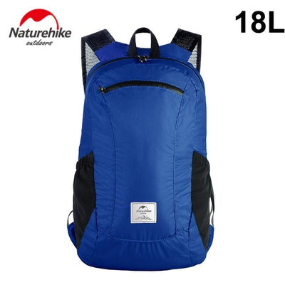 Foldable Waterproof Travel Daypack Bazoom Shop 18L blue