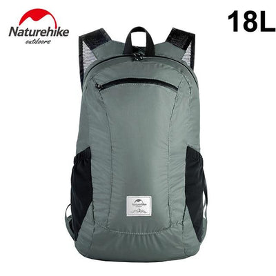 Foldable Waterproof Travel Daypack Bazoom Shop 18L gray
