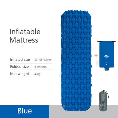 Naturehike Sleeping Mat Bazoom Shop Blue Inflatable 195x59x6.5cm