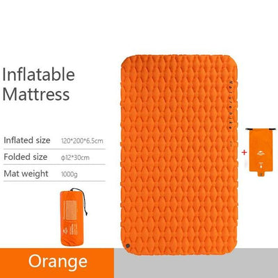 Naturehike Sleeping Mat Bazoom Shop Orange 2 Inflatable 195x59x6.5cm