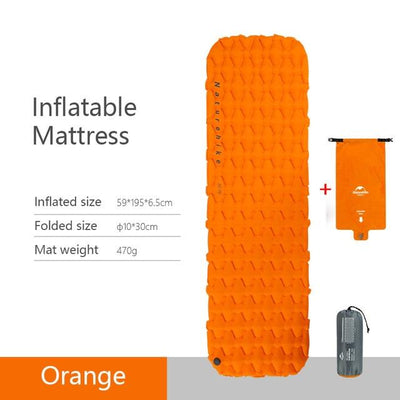 Naturehike Sleeping Mat Bazoom Shop Orange Inflatable 195x59x6.5cm