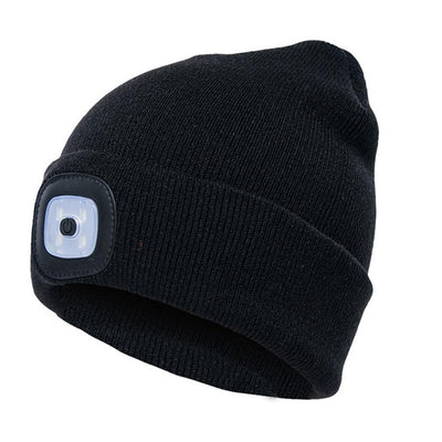 Outdoor LED Winter Beanie Unisex Bazoom Shop Black