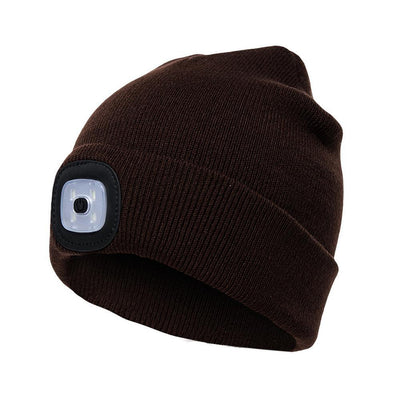 Outdoor LED Winter Beanie Unisex Bazoom Shop Brown