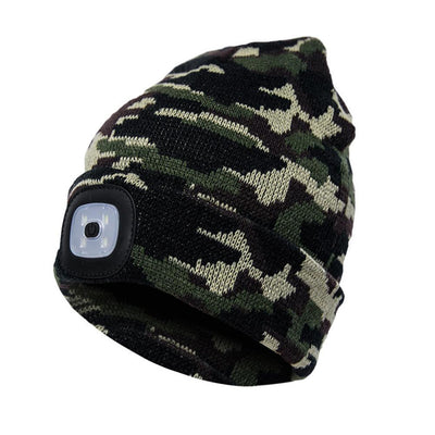 Outdoor LED Winter Beanie Unisex Bazoom Shop Camouflage