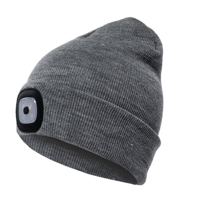 Outdoor LED Winter Beanie Unisex Bazoom Shop Grey