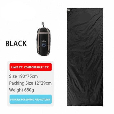 SleepBag™ | Ultra-Light Sleeping Bag (3 Seasons use) Bazoom Shop Black 190x75cm