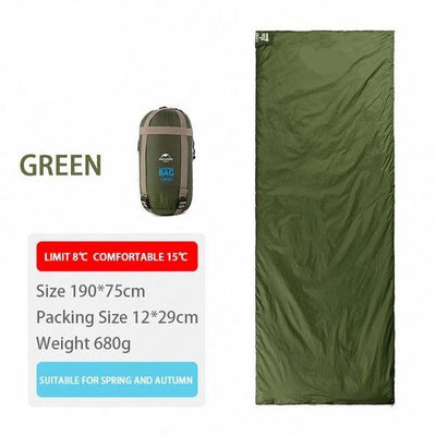 SleepBag™ | Ultra-Light Sleeping Bag (3 Seasons use) Bazoom Shop Green 190x75cm