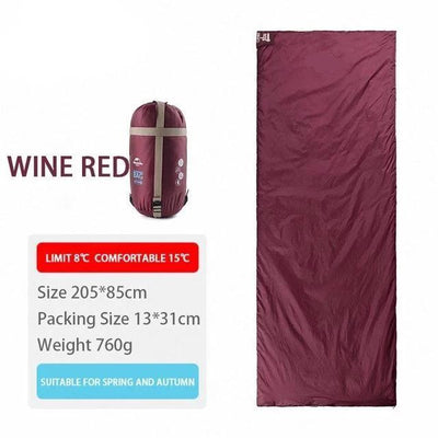 SleepBag™ | Ultra-Light Sleeping Bag (3 Seasons use) Bazoom Shop Red 205x85cm