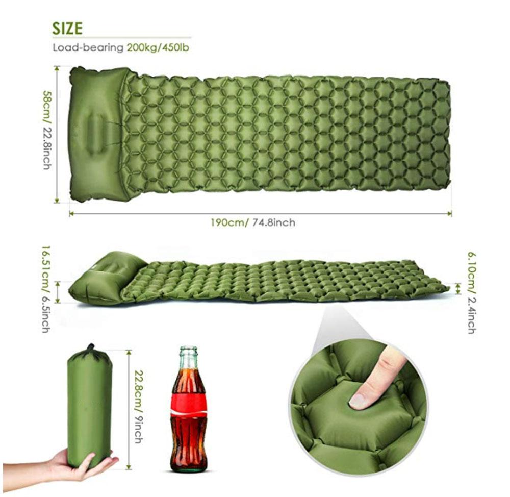 SLEEPMAT® - BEST OUTDOOR SLEEPING MATTRESS Wiio Green