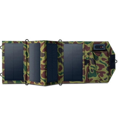SolPan - 8W Portable Solar Panel Charger Bazoom Shop Green Camouflage