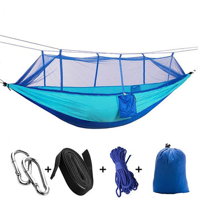 Ultralight Travel Hammock with Integrated Mosquito Net Bazoom Shop