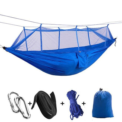 Ultralight Travel Hammock with Integrated Mosquito Net Bazoom Shop Dark Blue