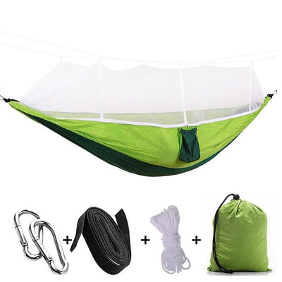 Ultralight Travel Hammock with Integrated Mosquito Net Bazoom Shop Lime Green