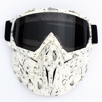X-Mask| Riding Mask Waterproof Windproof Anti-Fog Bazoom Shop White