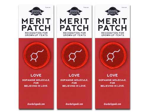 All You Need is Love Merit Badge Set of 3