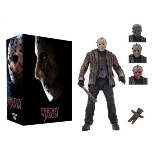 "Freddy vs Jason – 7"" Scale Action Figure – Ultimate Jason (FvJ)"