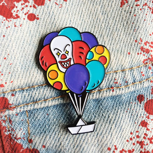 Pennywise balloon and paperboat pin