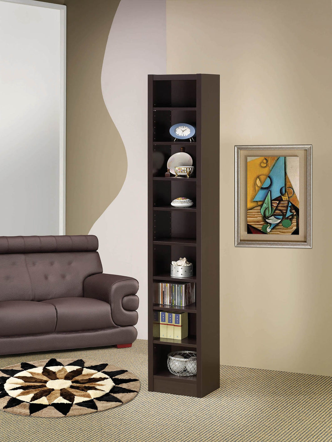 Casual Cappuccino DVD / Slim Bookcase